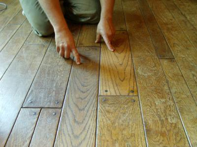 Captivating Color Change From Dirty Wood Floor Wax Removal