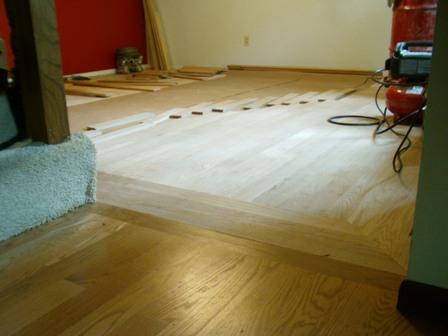 Dining Room Wood Floor Design in Progress