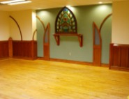 salvaged hardwood church floor