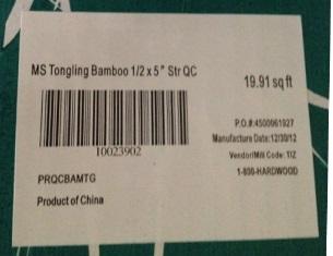 Lumber Liquidators Label
