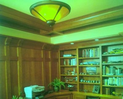 White Oak Craftsman Style Paneling & Cove