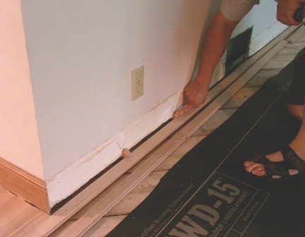 How to install hardwood flooring like a floorwright for Hardwood floors expansion gap