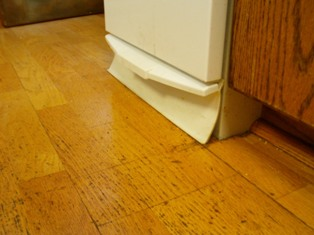 Compactor Damaged Engineered Kitchen Wood Floor