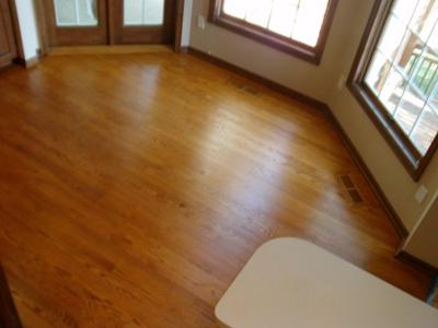 Refinish wood floors with low voc shademaker wood stain for Hardwood flooring zero voc