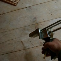 glue injector for wood floor squeak repair