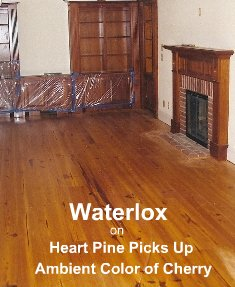 Waterlox picks up color of cherry