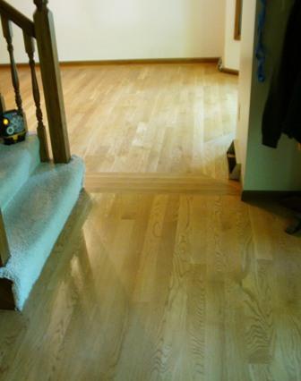 Dining Room Wood Floor Design Finished