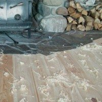Fresh Shavings from Hand Scraped Wood Flooring Project