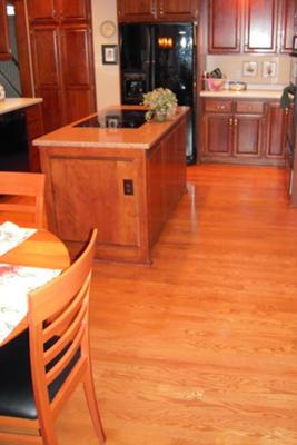 Low VOC ShadeMaker Wood Stain, Oak Floor Cherry Cabinets