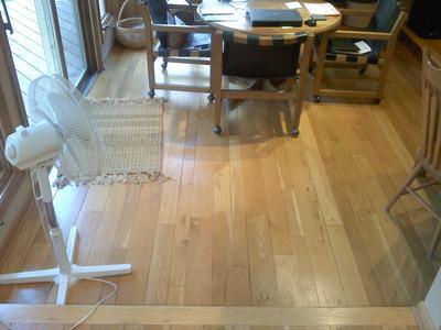 Existing flooring is milled in random widths