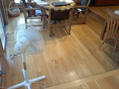 Flooring is considerably gapped